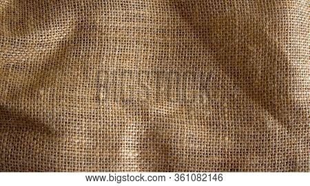This One Has A Fairly Rough Texture. This Was Once A Burlap, Woven Using Goat Hair With A Dark Color