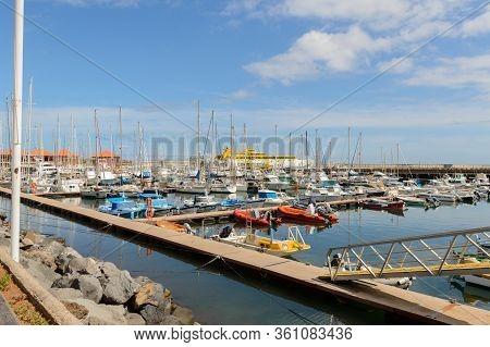 Marina In San Sebastian De La Gomera. April 15, 2019. La Gomera, Santa Cruz De Tenerife Spain Africa