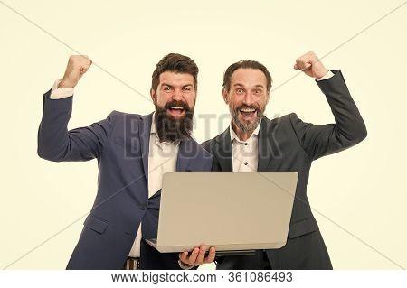 Commercial Intent. Search Engine Optimization. Web Developer. Men Working Laptop. Web Pages Content