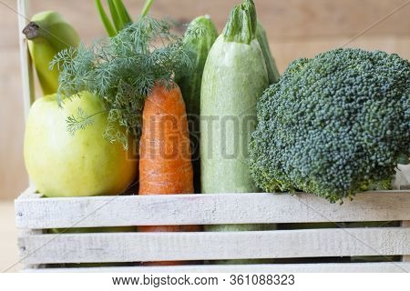 Homegrown Vegetables. Fresh Organic Vegetables. Vegetables From The Garden. Colorful Vegetable. Heal