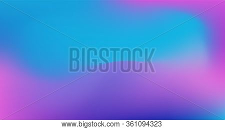 Blue Purple Pink Digital Gradient Background. Dreamy Neon Bright Trendy Wallpaper. Elegant Colorful