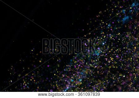 Festive Twinkle Glitters Background, Abstract Blurred Backdrop With Circles, Modern Design Wallpaper