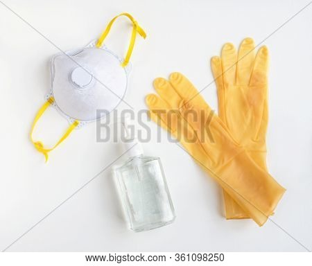 Yellow Personal Protective Equipment with NIOSH 95 Mask