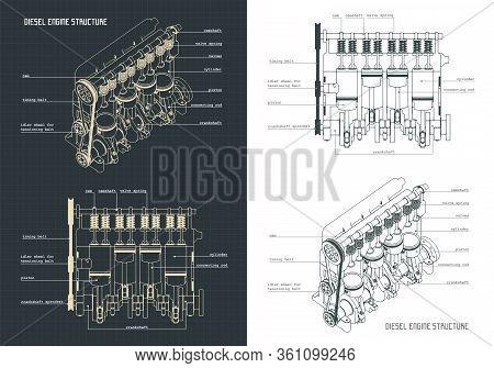 Diesel Engine Blueprints