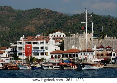 Marmaris,turkey - October 30, 2019:view Of The City Of Marmaris From The Sea. Turkey