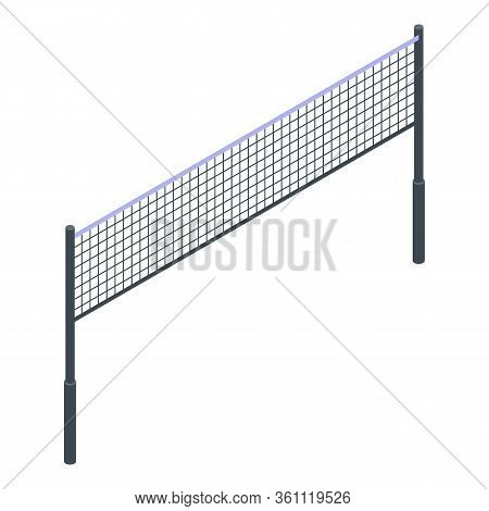 Volleyball Net Icon. Isometric Of Volleyball Net Vector Icon For Web Design Isolated On White Backgr