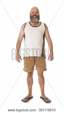 A Full Length Portrait Of A Typical Aussie Guy.