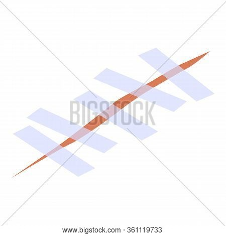 Scotch Suture Icon. Isometric Of Scotch Suture Vector Icon For Web Design Isolated On White Backgrou