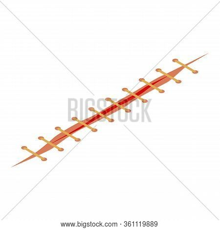 Accident Suture Icon. Isometric Of Accident Suture Vector Icon For Web Design Isolated On White Back