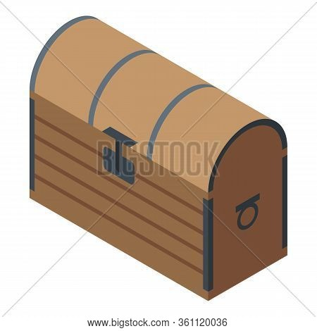 Wizard Dower Chest Icon. Isometric Of Wizard Dower Chest Vector Icon For Web Design Isolated On Whit
