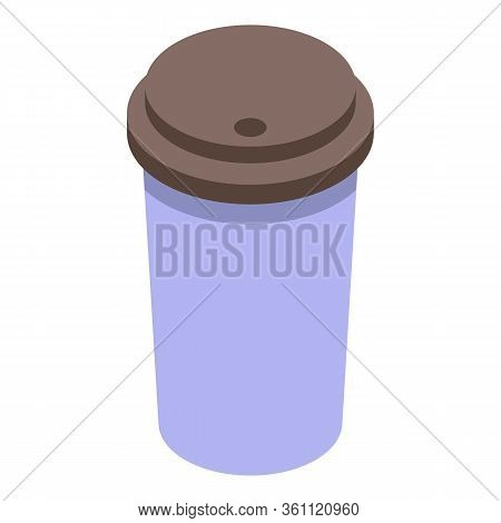 Coffee To Go Cup Icon. Isometric Of Coffee To Go Cup Vector Icon For Web Design Isolated On White Ba