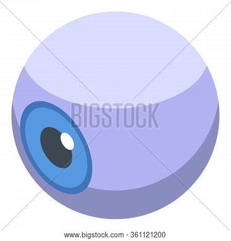 Donate Organs Eyeball Icon. Isometric Of Donate Organs Eyeball Vector Icon For Web Design Isolated O