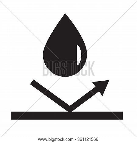 Waterproof Icon On White Background. Flat Style. Water Protection Icon For Your Web Site Design, Log