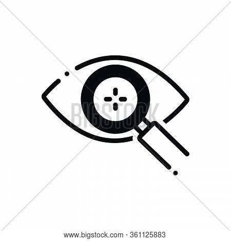 Black Solid Icon For Eye-detect Eye Detect Magnifying Intelligent Retina