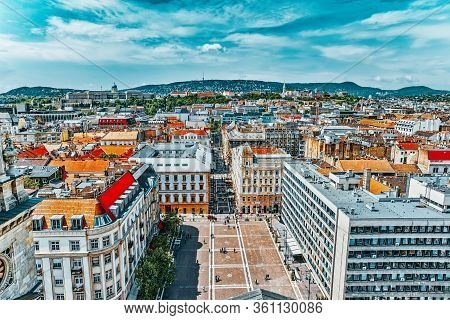 Budapest, Hungary-may 04, 2016: Center Of Budapest, View From The St.stephen Basilica