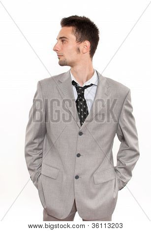 Handsome Young Caucasian Businessman