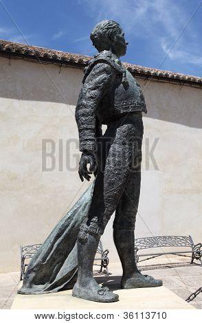 Statue Of a Torero In Ronda, Spain