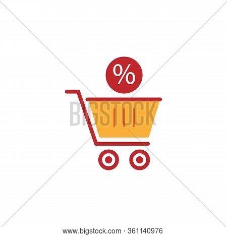 Bargain Line Illustration Icon On White Background
