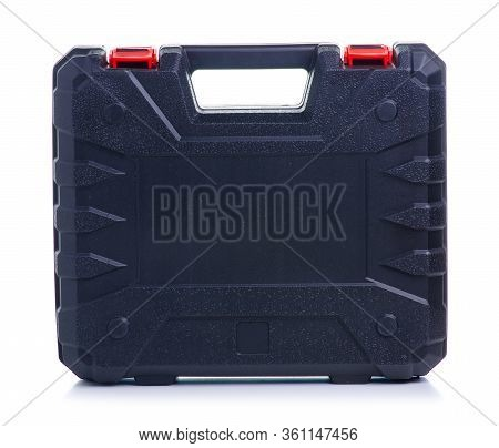Black Tool Box On White Background Isolation