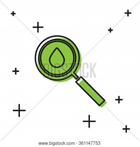 Black Oil Drop Icon Isolated On White Background. Geological Exploration, Geology Research. Vector I