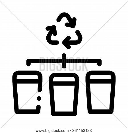 Garbage Distribution Icon Vector. Garbage Distribution Sign. Isolated Contour Symbol Illustration