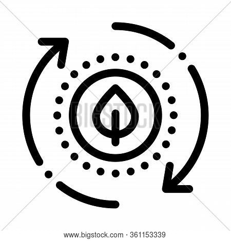 Restoration Of Nature Icon Vector. Restoration Of Nature Sign. Isolated Contour Symbol Illustration