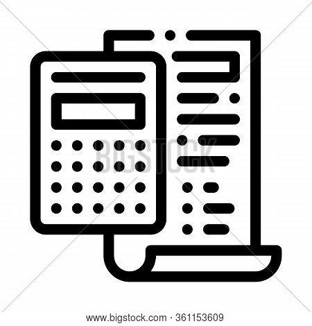 Court Sentence Cache Calculation Icon Vector. Court Sentence Cache Calculation Sign. Isolated Contou