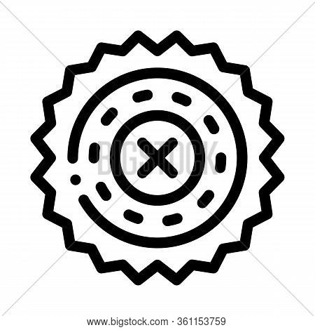 Prohibition Of Proceedings Icon Vector. Prohibition Of Proceedings Sign. Isolated Contour Symbol Ill