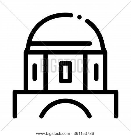 Classical Greek Building Dome Icon Vector. Classical Greek Building Dome Sign. Isolated Contour Symb