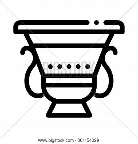 Ancient Greek Feast Bowl Icon Vector. Ancient Greek Feast Bowl Sign. Isolated Contour Symbol Illustr