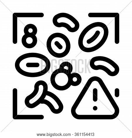 Harmful Substances In Blood Icon Vector. Harmful Substances In Blood Sign. Isolated Contour Symbol I