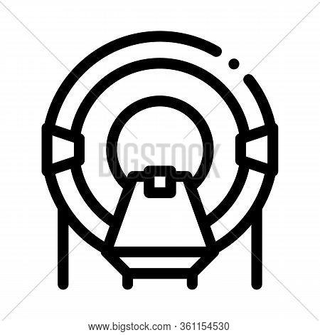 Place In Solarium Icon Vector. Place In Solarium Sign. Isolated Contour Symbol Illustration
