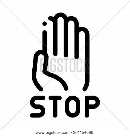 Stop Bullying Icon Vector. Stop Bullying Sign. Isolated Contour Symbol Illustration