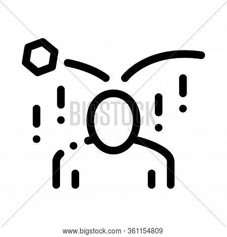 Collapse Of Criticism Per Person Icon Vector. Collapse Of Criticism Per Person Sign. Isolated Contou