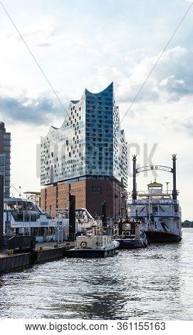 Hamburg, Germany - June 23, 2019 Philharmonic Hall Elbphilarmonie In Port District Hafencity In Hamb