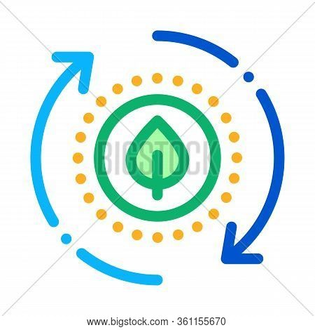 Restoration Of Nature Icon Vector. Restoration Of Nature Sign. Color Symbol Illustration