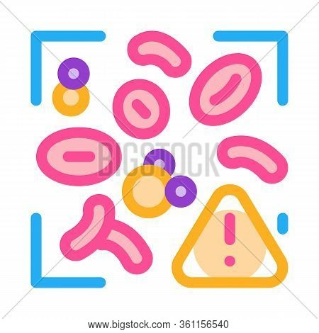 Harmful Substances In Blood Icon Vector. Harmful Substances In Blood Sign. Color Symbol Illustration