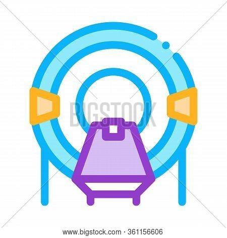 Place In Solarium Icon Vector. Place In Solarium Sign. Color Symbol Illustration