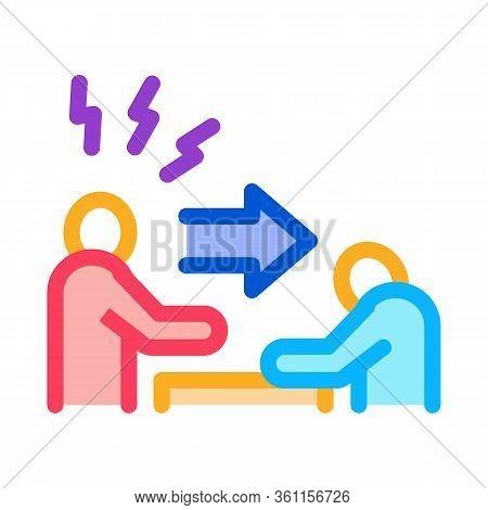 Reprimand Man Icon Vector. Reprimand Man Sign. Color Symbol Illustration
