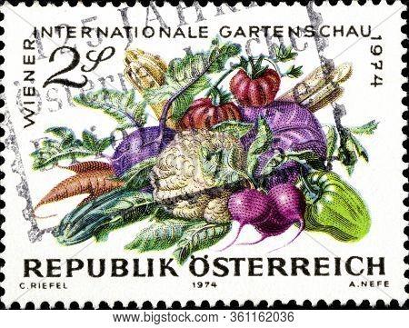 02.11.2020 Divnoe Stavropol Territory Russia Postage Stamp Austria 1974 Vienna International Horticu