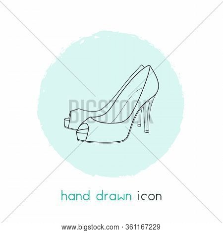 Heeled Icon Line Element. Vector Illustration Of Heeled Icon Line Isolated On Clean Background For Y