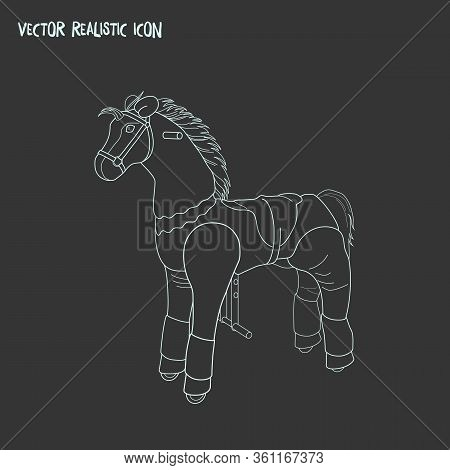 Ride On Horse Toy Icon Line Element. Vector Illustration Of Ride On Horse Toy Icon Line Isolated On