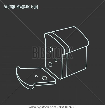 Loaf Icon Line Element. Vector Illustration Of Loaf Icon Line Isolated On Clean Background For Your