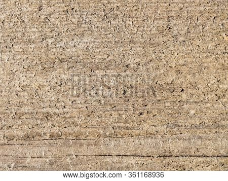 Background From Old Wood With Marks And Nicks. Abstract Background Concept