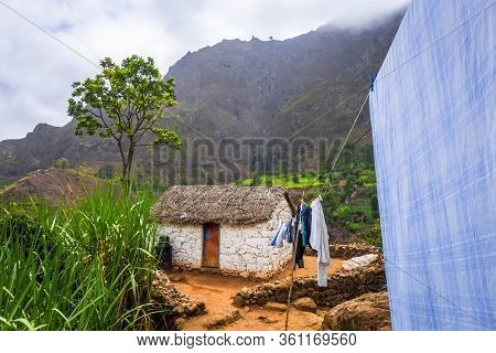 Santo Antao/cape Verde - August 17, 2018 - Traditional Houses In Paul Valley, Cape Verde Islands, Af