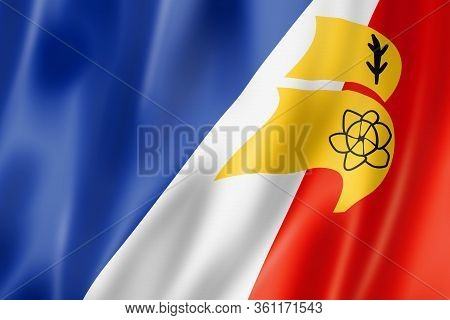 Franco Terreneuviens Ethnic Flag, America. 3d Illustration
