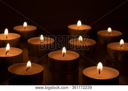Lantern Flares In The Obscurity, Candles Symbolizing Loss And Frustrating Feelings