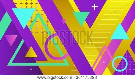 A Background Illustration Of Colorful Abstract Geometric Shapes And Colors. Vector Eps 10 Available.