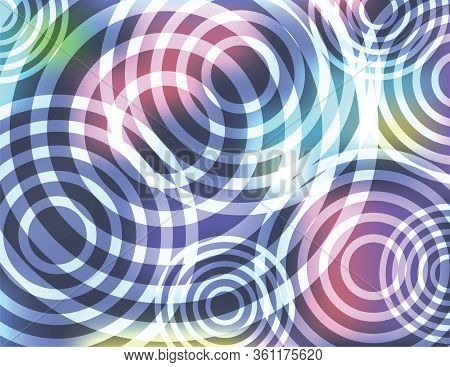 An Abstract Colorful Pattern Of Circular Shapes Background Illustration. Vector Eps 10 Available.