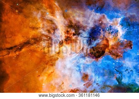 Incredibly Beautiful Galaxy In Outer Space. Black Hole. Elements Of This Image Furnished By Nasa.